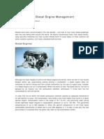 Common Rail Diesel Engine Management