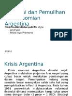 Stagnasi Dan Pemulihan Perekonomian Argentina