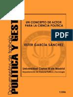 ACTORES SOCIALES (Ester García Sanchez)