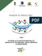Curs Utilizari Ale Plantelor Medic in Ale Si Aromatice in Gastronomie Si Nu Numai