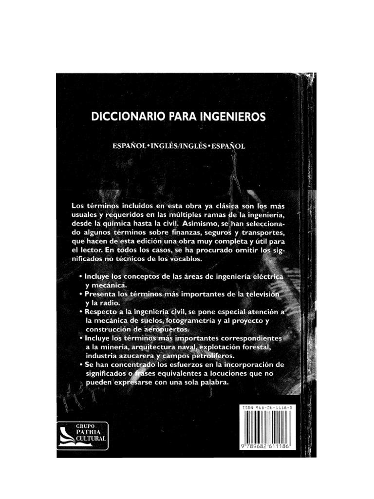 DICCIONARIO PARA INGENIEROS ESPAÑOL-INGLÉSINGLÉS-ESPAÑOL2