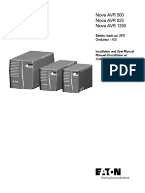 Eaton Nova AVR Manual | Battery (Electricity) | Switch