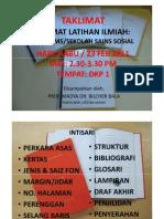 Format Penulisan UMS 2011