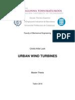 Cristia Arbo Lack - Urban Wind Turbines - Master Thesis - 250210