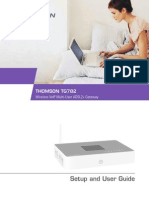 Modem Thompson TG782 Setup User Guide En