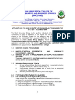 Application for Admission 2012-2013
