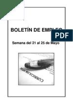 Boletin de Empleo Semana 21 Al 25 Mayo 2012