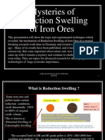 Reduction Swelling of Iron Oxides