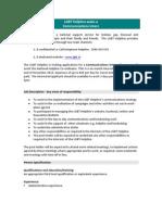 Advert for Communications Intern LGBT Helpline May 2012