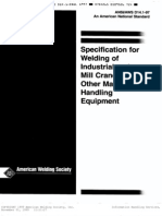 AWS D14.1 - 1997 Specification for Welding of Industrial and Mill Crane and Material Handling Eq