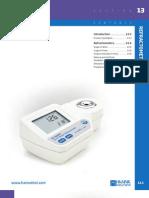 HANNA General Catalog v28 Chapter13 Refractometers