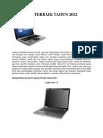10 Laptop Terbaik Tahun 2012