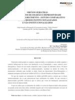 Depressão idosos institucionalizados vs não institucionalizados GDS
