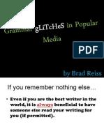 Grammar gLiTcHeS in Popular Media2