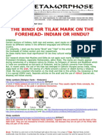 Bindi or Tilak Mark on the Forehead-Indian or Hindu