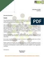[28 May] Comunicado FEULS