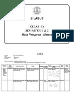 3. SILABUS KELAS IX 1 & 2