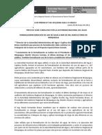 BOLETÍN DE PRENSA 010-2012