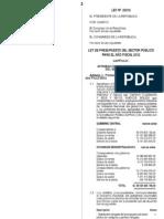 Ley de Presupuesto Para El Sector Publico 2012 - Ley 29812