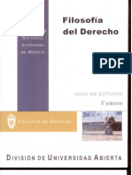 Filosofia Del Derecho 8o Semestre Guia de Estudios
