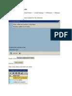 Maintain Settlement Profile