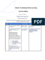 Course Layout of Facilitating Online Learning