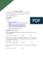 La Ecuacion de Tercer Grado