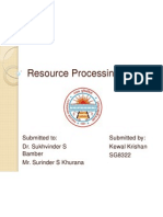 Resource Processing System