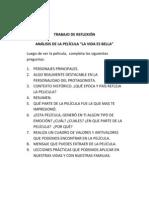 TRABAJO DE REFLEXIÓN
