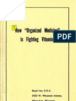 How Organized Medicine is Fighting Vitamins (Lee's Trial) 1943