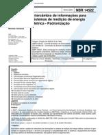 Nbr 14522 - Inter Cam Bio de Informacoes Para Sistemas de Medicao de Energia Eletrica - Padronizaca
