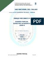 Dibujo II Cad Examen Parcial 2008 27-06-08