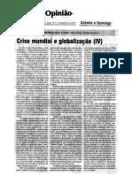 CRISE MUNDIAL E GLOBALIZAÇÃO (IV) Ojornaldehoje10e11dez