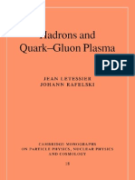 Hadrons and Quark Gluon Plasma, Letessier J, CUP 2002