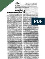 CRISE MUNDIAL E GLOBALIZAÇÃO (III) ojornaldehoje07nov.11