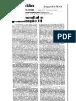 CRISE MUNDIAL E GLOBALIZAÇÃO (III) ojornaldehoje07nov.11.b
