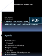Credit Origination and Appraisal