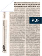 O MITO DAS SACOLAS PLÁSTICAS E O MERCADO (II) OJornaldeHoje02abr12