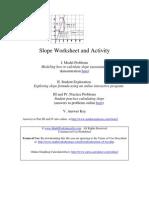Slope of a Line Worksheet