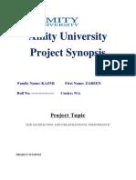 Project Synopsis-Zareen Kazmi