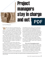 Project Managers Stay in Charge and Out Front