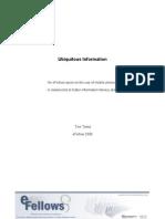 Toni Twiss - Ubiquitous Information