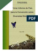 1er Informe VENEZUELA para Convención sobre Diversidad Biológica
