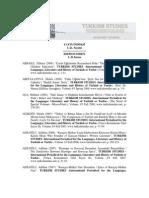 Turkish Studies Indeks