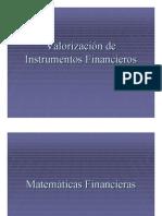 Valorizacion de Instrumentos Financieros