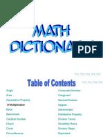Dictionary Math 7