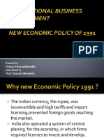 New Economic Policy of 1991