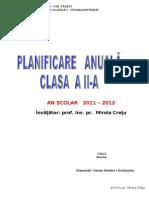 Planificare Completa Clasa a Iia.20112012