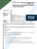 NBR 7189 NB 7 -1985 - Cargas Moveis Para Projeto Estrutural De Obras Ferroviarias.pdf