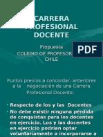 CARRERA PROFESIONAL DOCENTE - Colegio de Profesores